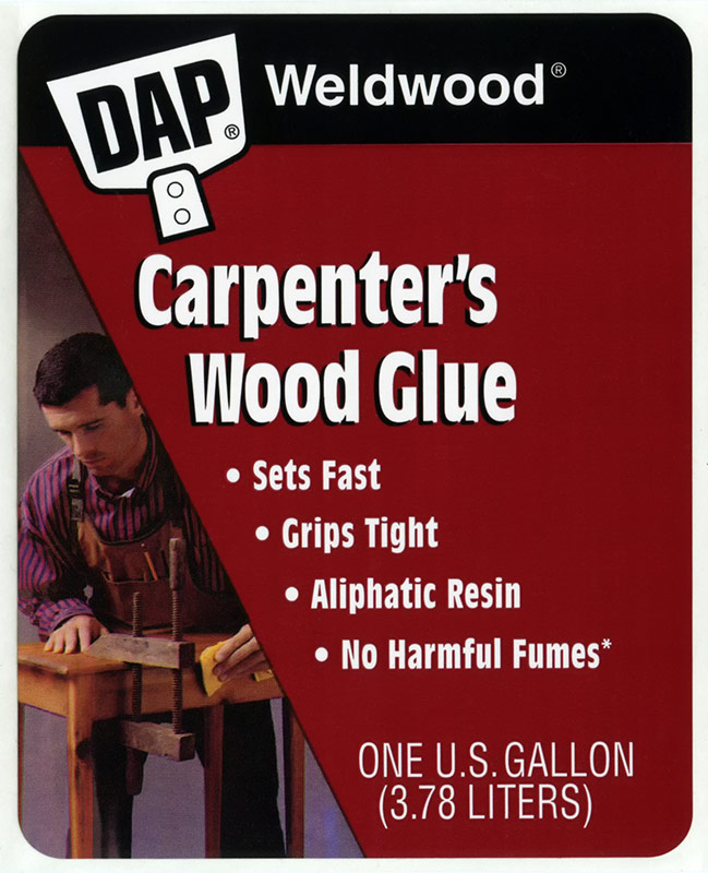 DAP Carpenter's Wood Glue Adhesive Product Label