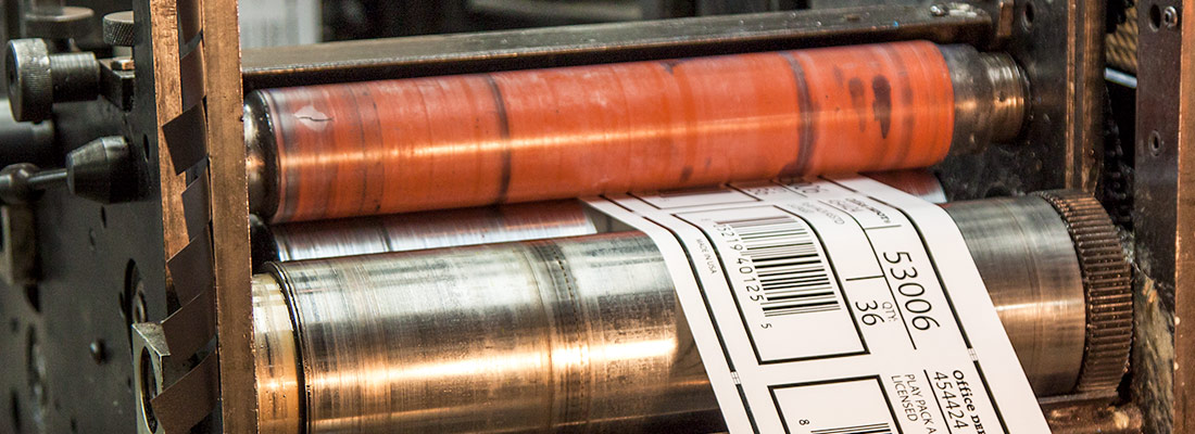 Printing Labels at Retterbush Graphics & Packaging