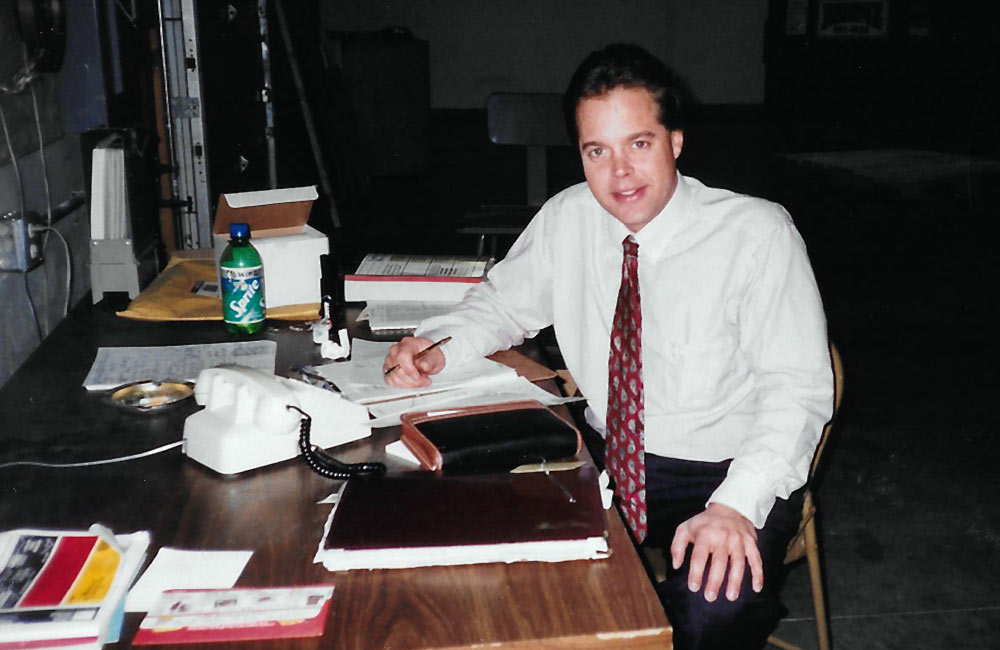 Joe Retterbush as a young salesman