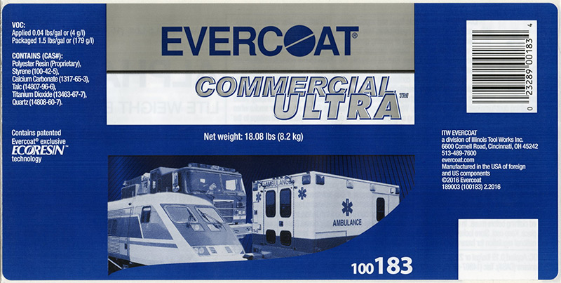 Evercoat Adhesive Product Label