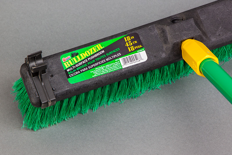 Quickie Bulldozer Pushbroom with Adhesive Label