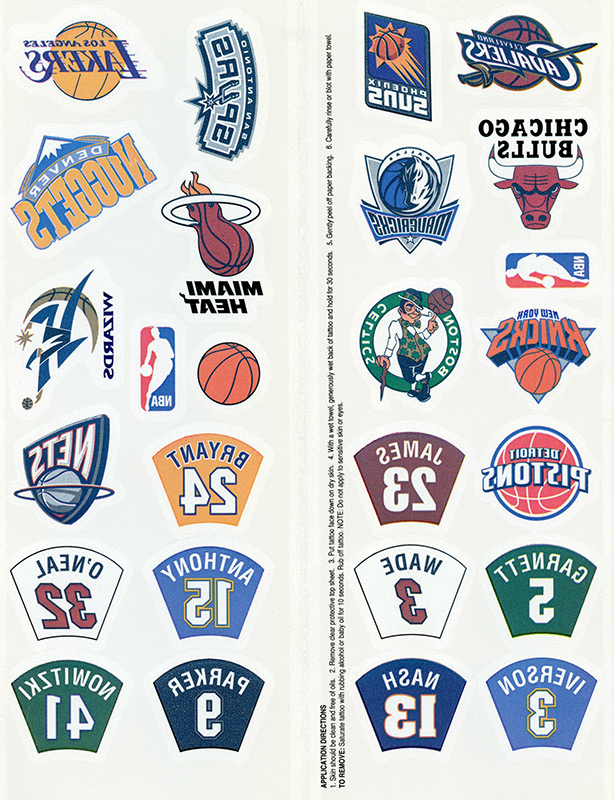 Temporary Tattoos - NBA Logos