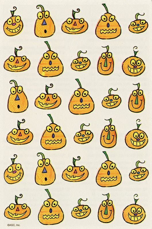 Temporary Tattoos - Jack-O-Lantern Pumpkins