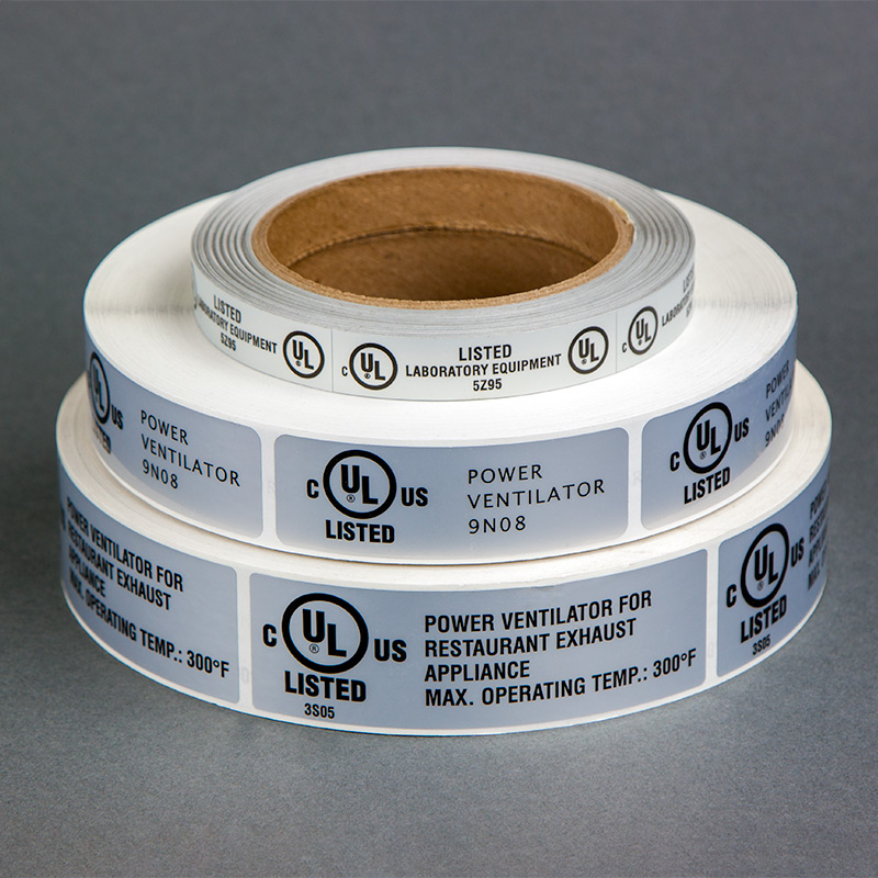 UL Listed Peel-and-Stick Labels